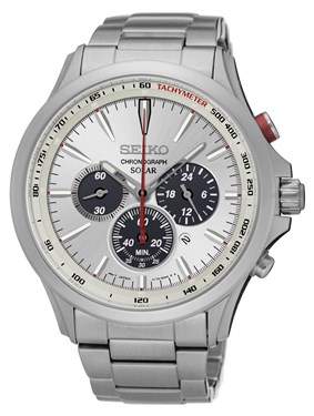 Seiko Mens Solar Chronograph Watch