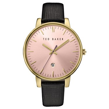 Ted Baker Black & Gold Kate Watch  - Click to view larger image