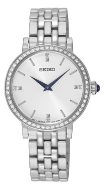 Seiko Silver Crystal Watch  - Click to view larger image