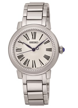 Seiko White Dial & Silver Bracelet Watch