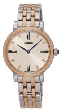 Seiko Silver & Rose Gold Bracelet Watch  - Click to view larger image