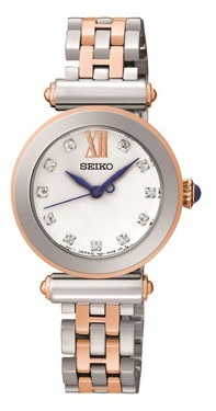 Seiko Silver & Rose Gold Watch  - Click to view larger image
