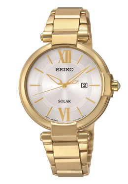 Seiko Solar Gold Watch   - Click to view larger image