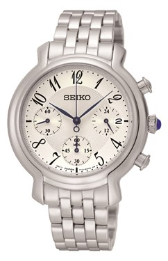 Seiko Silver Chronograph Watch