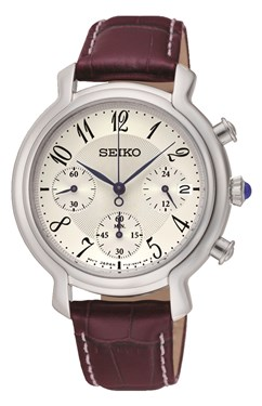 Seiko Brown Leather Watch