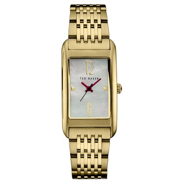 Ted Baker Gold Rectangular Dial Tara Watch  - Click to view larger image