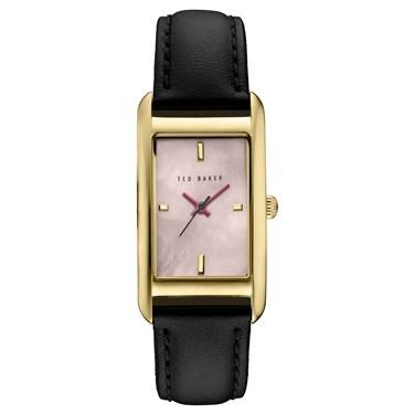 Ted Baker Black & Gold Rectangular Tara Watch