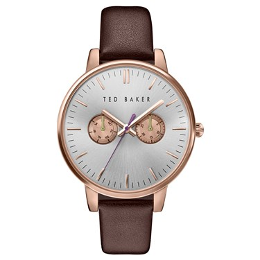 Ted Baker Burgundy Strap & Rose Gold Dial Liz Watch  - Click to view larger image