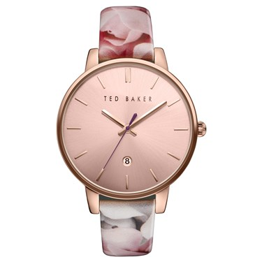 Ted Baker Floral & Rose Gold Kate Watch