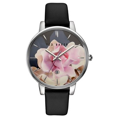 Ted Baker Black Strap & Floral Dial Kate Watch