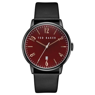 Ted Baker Men's Black Strap & Burgundy Dial Daniel Watch