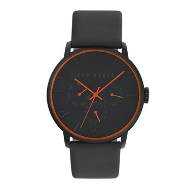 Ted Baker Men's Black Strap & Black Dial James Watch