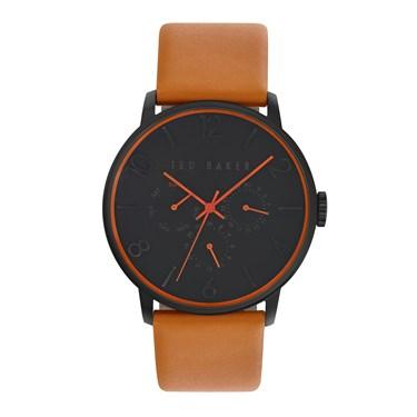 Ted Baker Men's Orange Strap & Black Dial James Watch