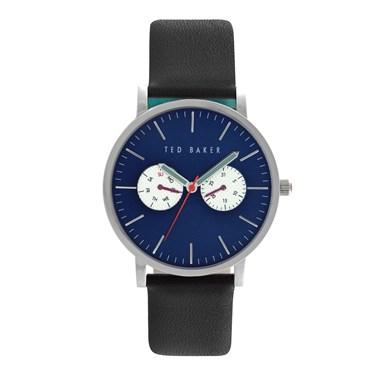 Ted Baker Men's Black Strap & Blue Dial Brit Watch