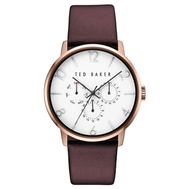 Ted Baker Men's Burgundy & Rose Gold Daniel Watch