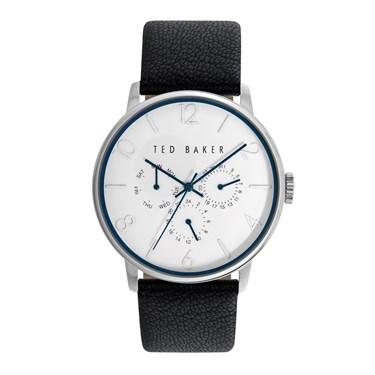 Ted Baker Men's Black Strap & White Dial James Watch