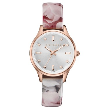 Ted Baker Floral & Rose Gold Zoe Watch