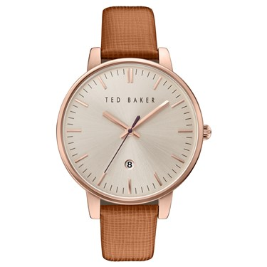 Ted Baker Tan & Rose Gold Kate Watch