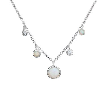 Argento Opal Drop Necklace  - Click to view larger image
