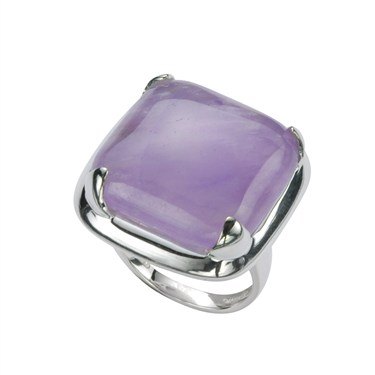 Argento Large Square Amethyst Ring