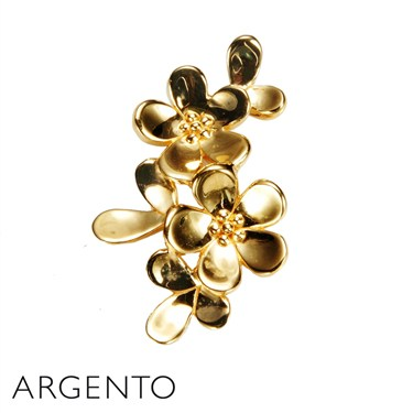 Argento Two Flower Necklace