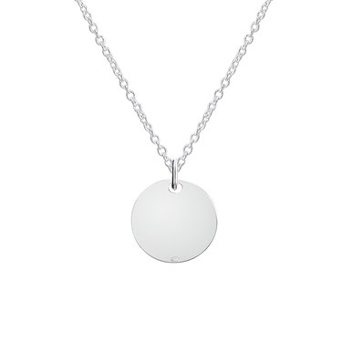 Argento Silver Coin Necklace  - Click to view larger image