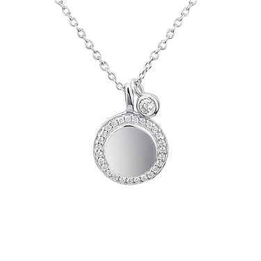 Argento Silver Coin & Crystal Necklace  - Click to view larger image