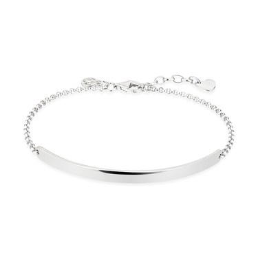 Argento Silver Flat Bar Bracelet  - Click to view larger image