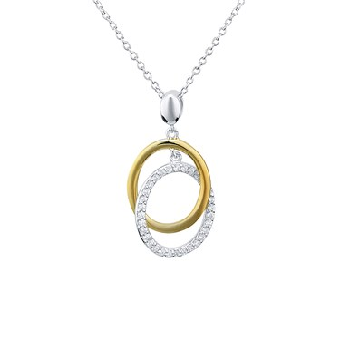Argento silver and gold circle necklace argento argento silver and gold circle necklace click to view larger image aloadofball Choice Image