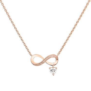 Argento Rose Gold Infinity Drop Necklace  - Click to view larger image