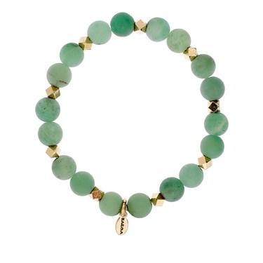 Karma Frosted Green Beaded Bracelet
