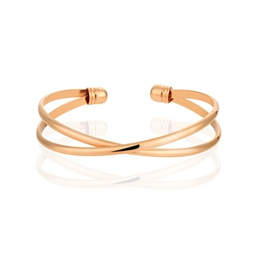 August Woods Rose Gold Interlinking Bangle  - Click to view larger image
