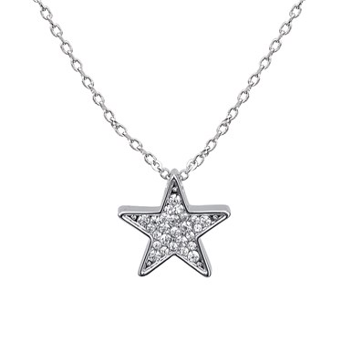 August Woods Silver Crystal Star Necklace  - Click to view larger image
