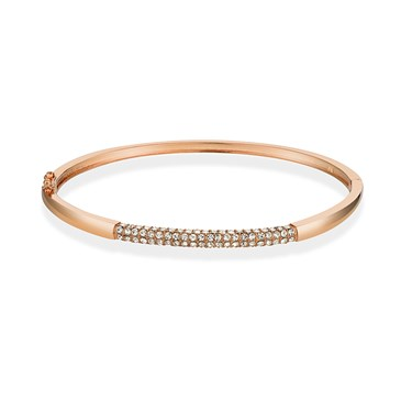 August Woods Rose Gold Crystal Detail Bangle  - Click to view larger image