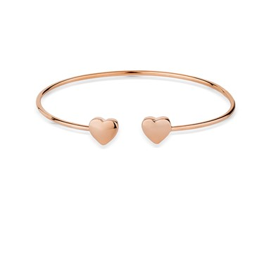 August Woods Rose Gold Open Heart Bangle