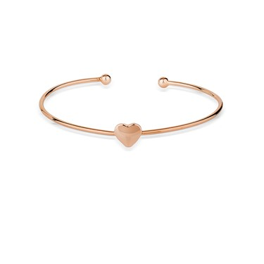 August Woods Rose Gold Petite Heart Bangle