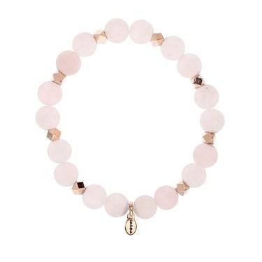 Karma Rose Quartz Beaded Bracelet