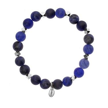 Karma Frosted Blue Beaded Bracelet