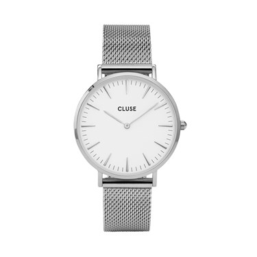 CLUSE La Bohème Silver Mesh Watch  - Click to view larger image