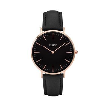 CLUSE La Bohème Rose Gold & Black Watch  - Click to view larger image