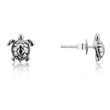 Argento Turtle Stud Earrings  - Click to view larger image
