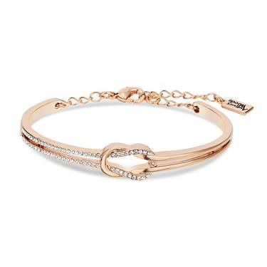 August Woods Rose Gold Crystal Knot Bracelet  - Click to view larger image