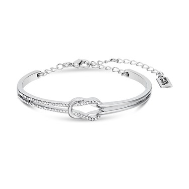 August Woods Silver Knot Crystal Bracelet  - Click to view larger image