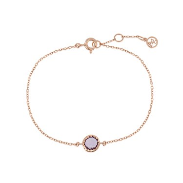 Argento February Birthstone Bracelet  - Click to view larger image