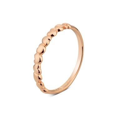 Argento Rose Gold Bubble Stacking Ring  - Click to view larger image