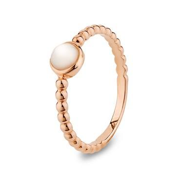 Argento Mother of Pearl Rope Stacking Ring  - Click to view larger image