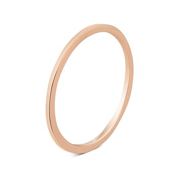Argento Rose Gold Band Stacking Ring  - Click to view larger image