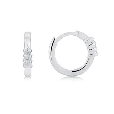 Argento Petite Hoop Earrings  - Click to view larger image