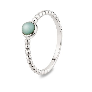 Argento Amazonite Rope Stacking Ring  - Click to view larger image