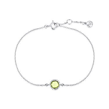 Argento August Birthstone Bracelet Click To View Larger Image